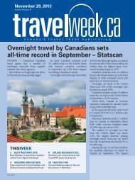 Overnight travel by Canadians sets all-time record in ... - Travelweek