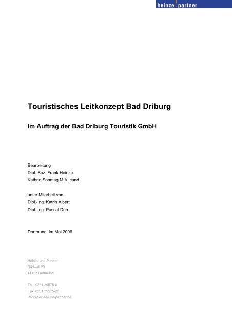 Touristisches Leitkonzept Bad Driburg