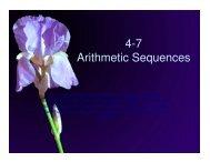 4-7 Arithmetic Sequences - Mona Shores Blogs