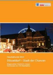 Düsseldorf, Stadt der Chancen - CDU Düsseldorf