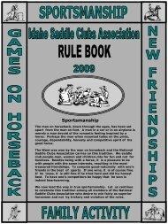 2009 idaho saddle clubs