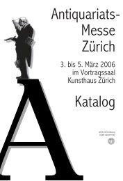 - Antiquariats Messe Zürich Katalog