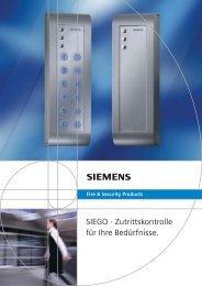 SIEGO - Zutrittskontrolle für Ihre Bedürfnisse.