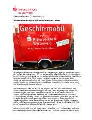 Neues Geschirrmobil im Einsatz - Kreissparkasse Westerwald