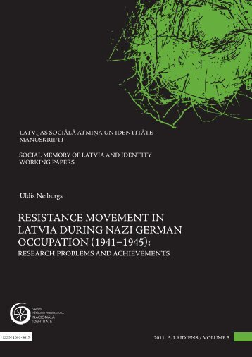 resistance movement in latvia during nazi german ... - Academia