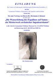 Sie zum Vortrag von Herrn Dr. Hermann J. Kienast - Ellines.de