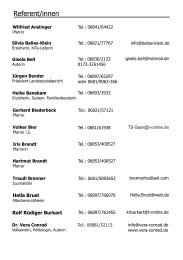Referent innen 2009 - Evangelische Akademie im Saarland