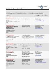 Arbeitstagungen / Planungswerkstätten ... - Dhp-sennestadt.de
