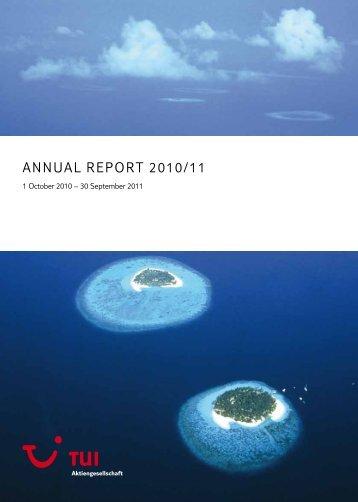 TUI Annual Report 2010/11 - TUI AG Annual Report 2010/2011