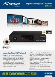 Digitalni zemaljski HD prijemnik SRT 8526 - STRONG Digital TV