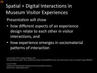 Spatial + digital interaction in museum visitor experiences