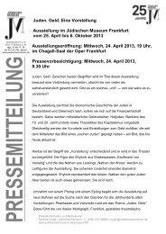 Pressemitteilung - Jüdisches Museum