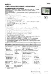 44.420/1 Sauter Components EQJW 125: Régulateur de chauffage ...