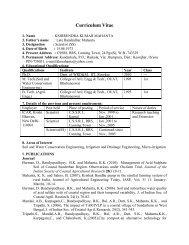 Er. K. K. Mahanta - CSSRI Karnal