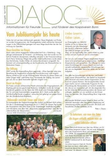 """Dialog"" - Ausgabe 1 - Hospizverein Bonn eV"