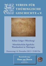 Kilian Grüger - Verein für Thüringische Geschichte e.V.