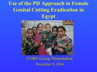 Use of the PD Approach in Female Genital - Positive Deviance ...
