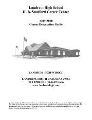 JROTC Course Description - Spartanburg County School District One