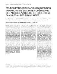 études pédoanthracologiques des variations de la ... - UMR 5059