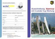 Ausschreibung Alpencup mit 3-Länder Cup Wertung - SCFF