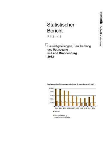 Land Brandenburg 2012 - Amt für Statistik Berlin-Brandenburg