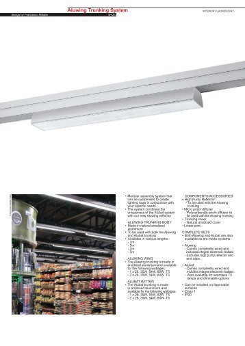 Aluwing Trunking System Fluorescent T5 - Spazio Lighting