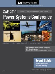 Power Systems Conference - SAE