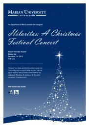 Hilaritas: A Christmas Festival Concert - Marian University
