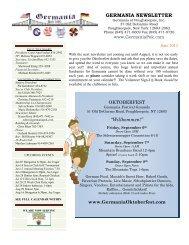 June 2013 - Germania of Poughkeepsie Inc.
