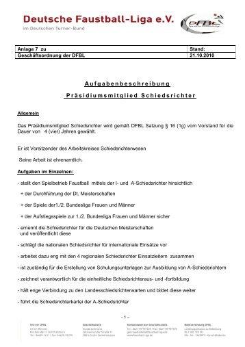DFBL-GO Anlage 7 - Deutsche Faustball-Liga eV