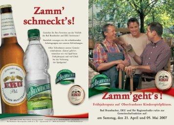 am Samstag, den 21. April und 05. Mai 2007 - Kulmbacher Brauerei ...