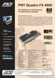 PNY Quadro FX 4600 - Logiway GmbH