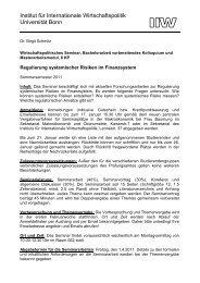 Vollständige Seminarbeschreibung - Institut für Internationale ...