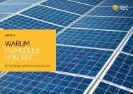 warum pv-module von rec - Eilers-Jacobs Photovoltaik