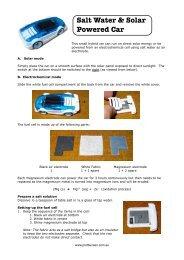 Salt Water & Solar Powered Car - Prof Bunsen