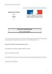 RP Kenya du 12 au 18 mars 2013 - Ambassade de France au Kenya