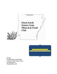December, 2009 - Ozark Earth Science, Gem, Mineral & Fossil Club