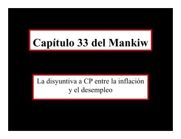 Capítulo 33 del Mankiw - ITAM