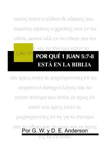 por qué 1 juan 5:7-8 está en la biblia - Sociedad Bíblica Trinitaria