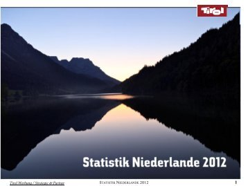 Statistik Niederlande 2012 - Tirol