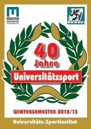 Universitätssport - USI Leoben - Montanuniversität Leoben