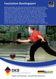 Disziplinblatt Bowling