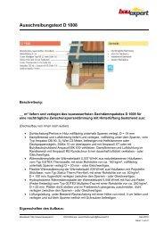 Ausschreibungstext D 1008 - BAUEXPERT