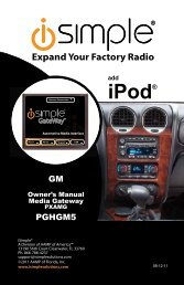 ISGM575 instruction manual - PAC Audio