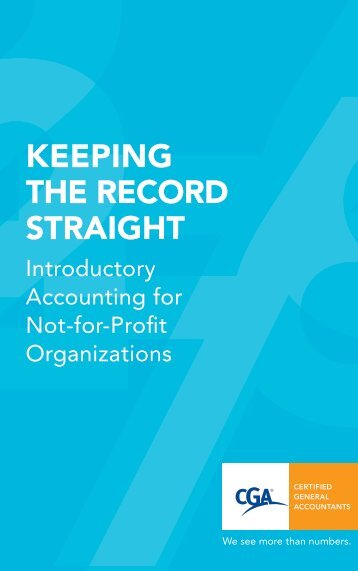 Keeping the Record Straight - Certified General Accountants of Ontario