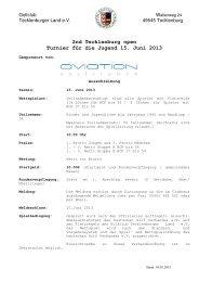 Ausschreibung 1. Tecklenburger Open - Golfclub Wasserburg Anholt