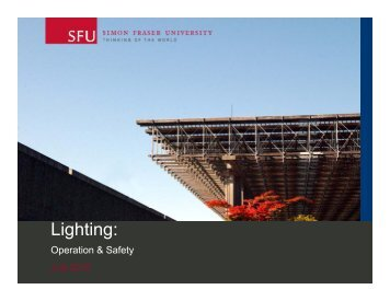 Lighting: - SFU Library