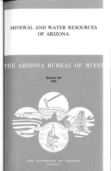Gold - INERAL AND WATER RESOURCES OF ARIZONA