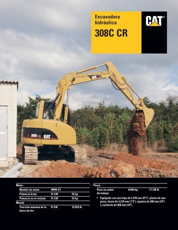 Excavadora hidráulica 308C CR, ASHQ5469 - Kelly Tractor