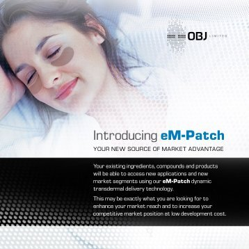 Introducing eM-Patch - OBJ Limited